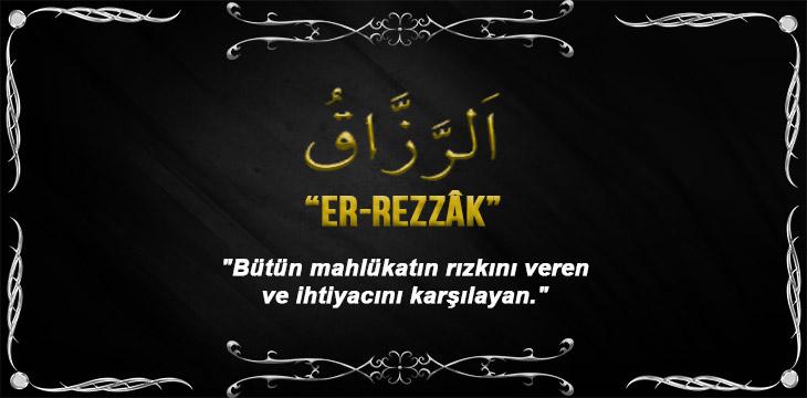 Allah(cc)'nun Er Rezzak Sıfatı