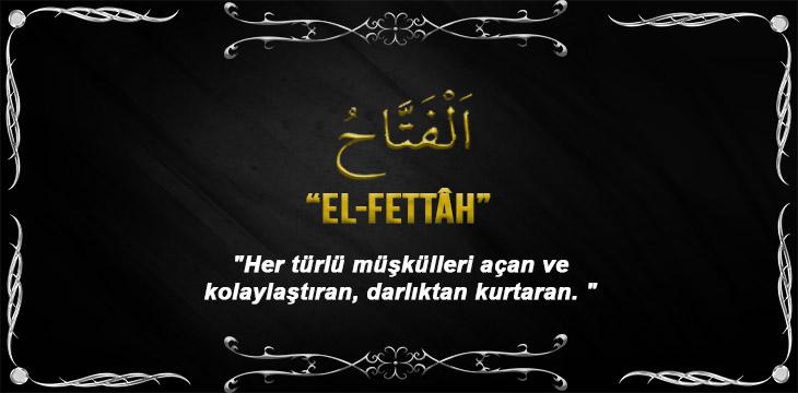 Allah(cc)'nun El-Fettâh Sıfatı