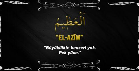 Allah(cc)'nun El Azîm Sıfatı