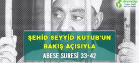 ŞEHİD SEYYİD KUTUB'UN BAKIŞ AÇISIYLA ABESE SURESİ 33-42