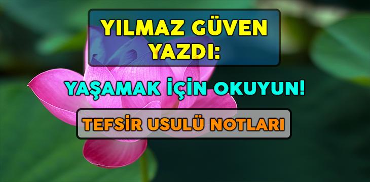 TEFSİR USULÜ NOTLARI