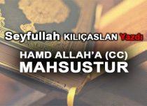 HAMD ALLAH'A (CC) MAHSUSTUR