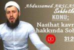 Abdussamed ARSLAN Konu: Nesil Emniyeti Kavramı Hakkında Sohbet