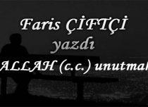 ALLAH (c.c.) unutmak