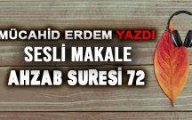 AHZAB SURESİ 72