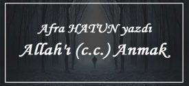 Allah'ı (c.c.) anmak